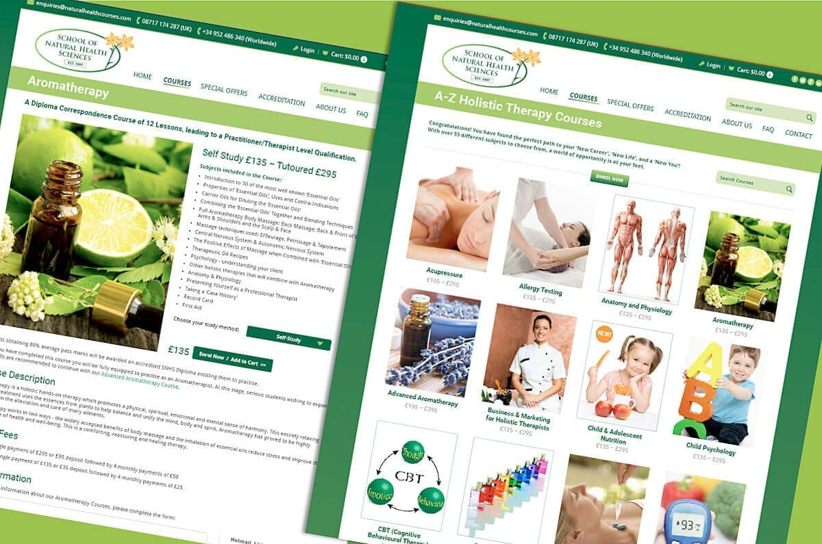 Shop for courses with the School of Natural Health Sciences