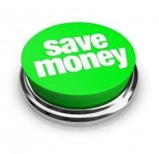 green save money button